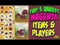 The Rarest Magenta Items & Players In Animal Jam!