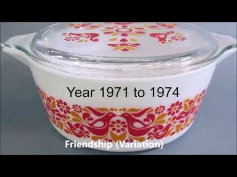 Pyrex Patterns Through The Years 1968 - 1986  (Part 3) Made in the U.S.A. #Pyrex #Vintage