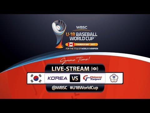 Korea v Chinese Taipei - WBSC U-18 Baseball World Cup 2017