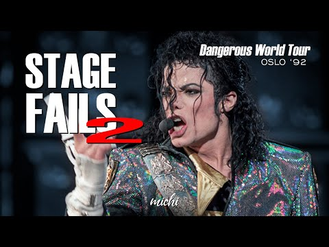 Michael Jackson - STAGE FAILS #2 - Live In Oslo 1992 - Dangerous World Tour
