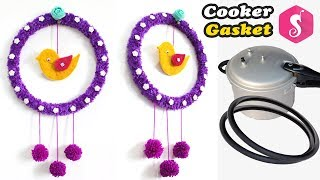 Old Cooker Gasket Craft Idea | Easy Wall Hanging Showpiece | Wall Decor 2018