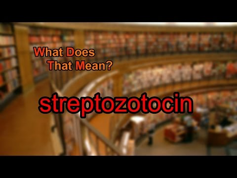 What does streptozotocin mean?