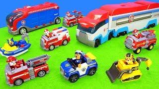Paw Patrol Spielzeug Unboxing Für Kinder: Feuerwehrautos, Polizeiautos, Einsatzfahrzeuge Und Boote