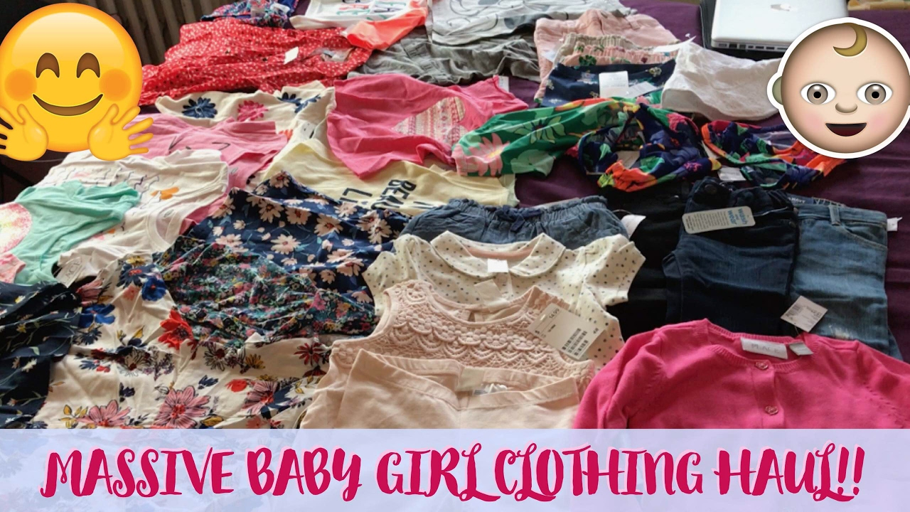 7bd1788ab0f8 MASSIVE Baby Girl CLOTHING HAUL!!! (Oldnavy, Children's Place, and H&M)-  PART I