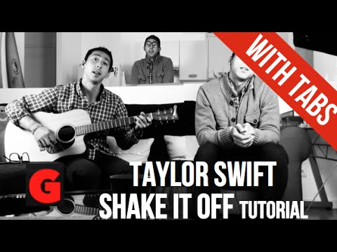 Shake it off - Taylor Swift - EASY Guitar Tutorial 4 Chords - YouTube