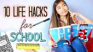 10 DIY Life Hacks for School and Studying EVERY student should know! | Study Tips and Organization