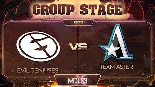 Evil Geniuses vs Aster Game 2 - MDL Chengdu Major: Group Stage