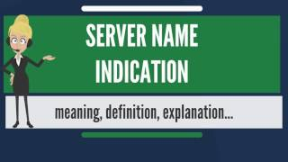 What is SERVER NAME INDICATION? What does SERVER NAME INDICATION mean?