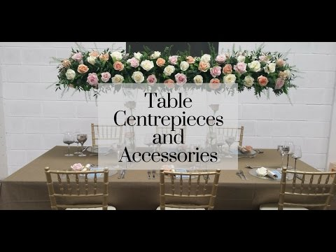 Centrepiece and Accessories Hire Product Range