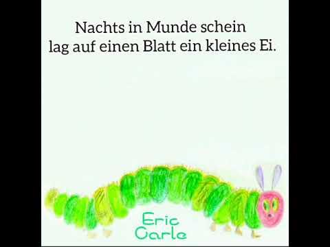 「はらぺこあおむしをドイツ語で朗読しました」