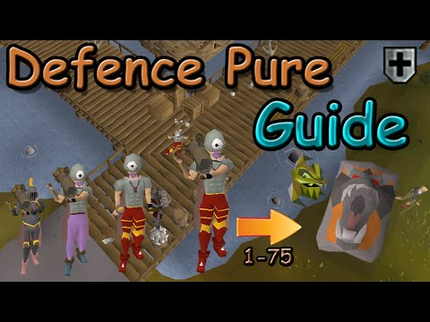 Oldschool Runescape - Defence Pure/Tank | Guide 1-75 Defence | (DFS+Serp helm Pure)