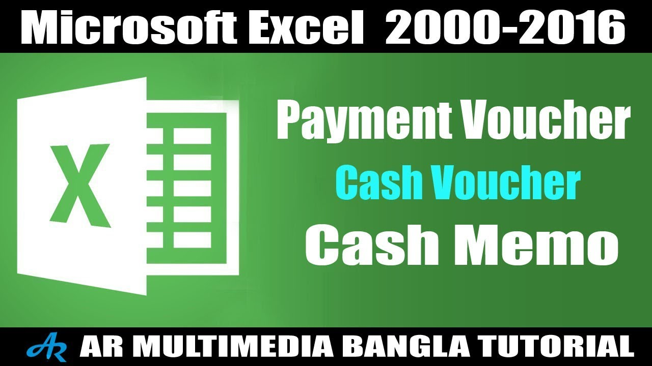 how to create payment voucher in microsoft excel sales money report