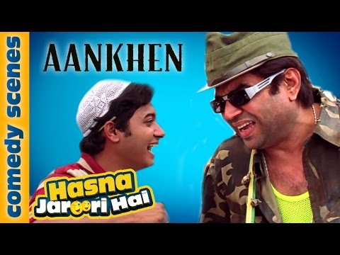 Hasna Zaroori Hai - Featuring Paresh Rawal - Aankhen Comedy Scene