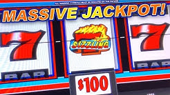 HIGH LIMIT ★ SIZZLING 7 CLASSIC SLOT MACHINE ➜ MASSIVE JACKPOT!