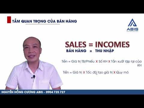 BÁN HÀNG = THU NHẬP : Thu nhập phụ thuộc chính vào việc bán hàng