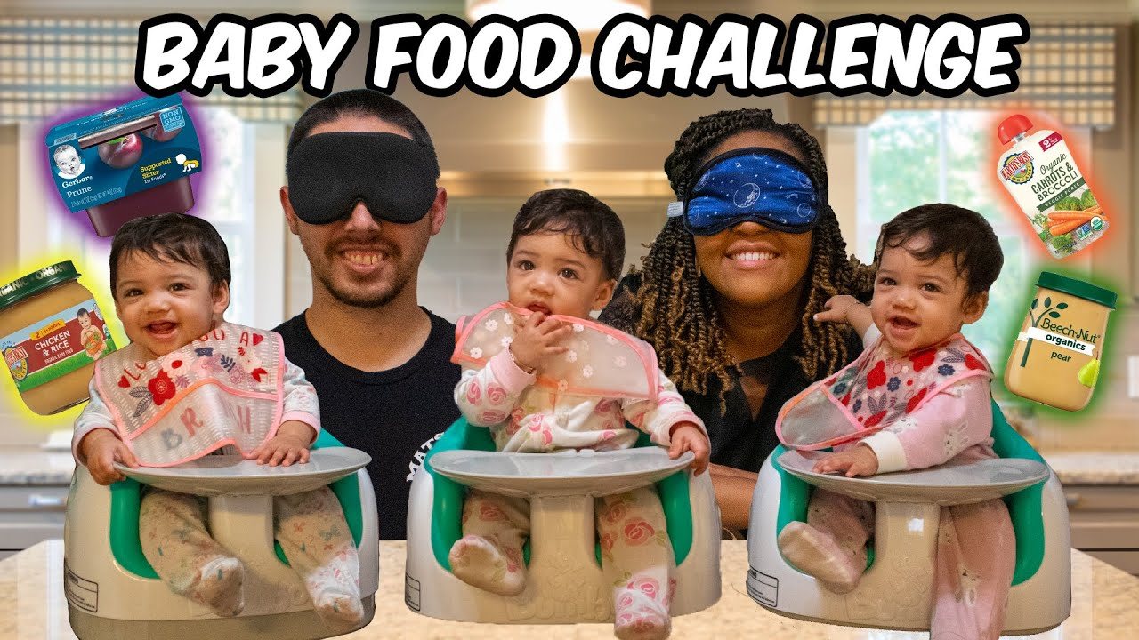 Baby Food Challenge - Triplet Edition!
