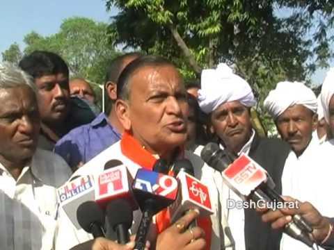 Bharatiya Kisan Sangh Gujarat President Magan Patel speaking to media in Ahmedabad