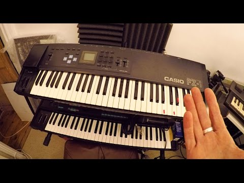 CASIO FZ-1 Sampler Synth Keyboard First Peek Demo w/Vocal Pads