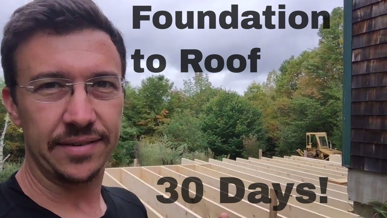 Building A House Addition Alone In 30 Days Diy My Garage Build