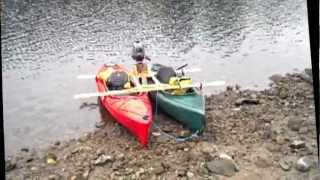Kayak Catamaran Frame With 2.5hp Outboard - Test 1