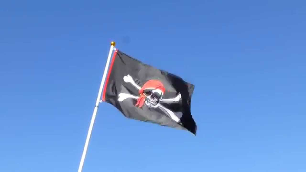 Im a jolly roger flag applique 3x5 grommeted in the breeze