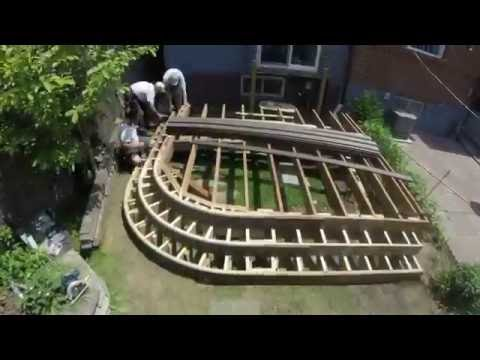 Trunorthdeck Curved Deck And Fence Time Lapse Build