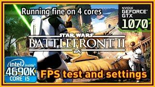 Star Wars Battlefront II Open Beta - i5 4690K & GTX 1070 - FPS Test and Settings