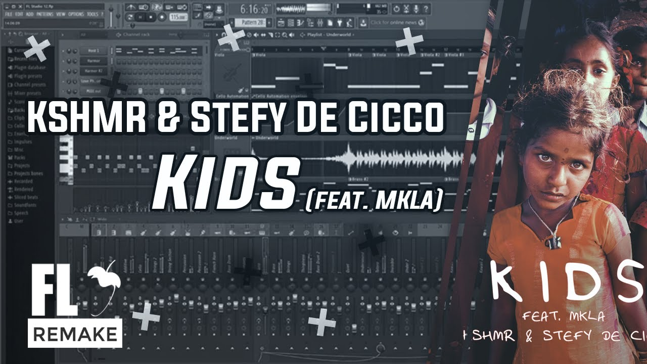 KSHMR & Stefy De Cicco - Kids (feat. MKLA) (FL Studio Remake + FLP)