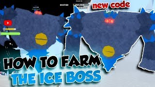 [NEW CODE] HOW TO FARM THE ICE BOSS! | Esper Online | ROBLOX