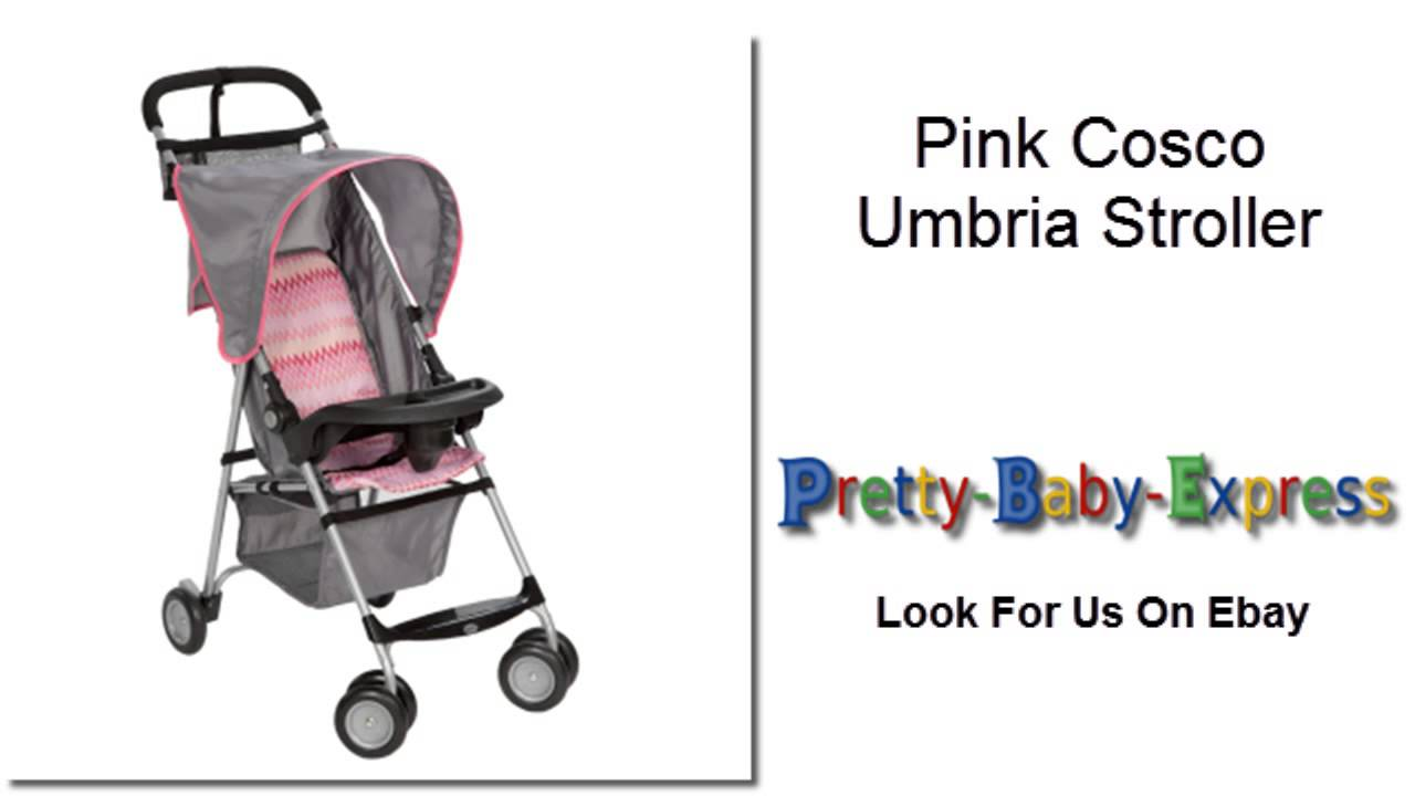 Pretty Baby Express Pink Cosco Umbria Stroller - Pink Zigzag Design on Ebay  sc 1 st  YouTube & Pretty Baby Express Pink Cosco Umbria Stroller - Pink Zigzag ...