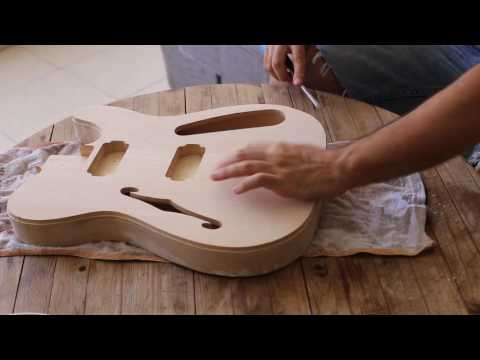 How I built my first electric guitar (telecaster)