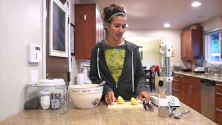 The Pancake Channel ~ Almond Poppyseed Pancakes With Lemon Cashew Cream