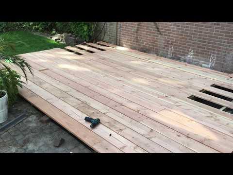 Hoe doen ze dat: Een terras maken van Douglas planken