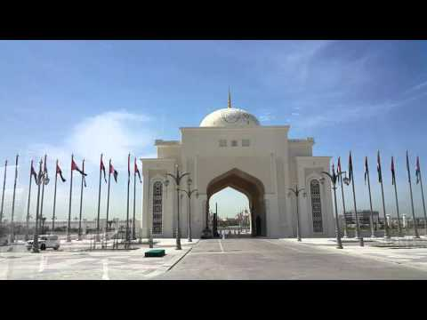 UAE President Palace entrance in Abu Dhabi