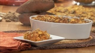 Sweet Potato Puff With Crunchy Praline Topping Hd