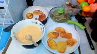 GVK : Оладьи, капустные оладьи, овощные оладьи,  жаренный минтай с картофелем и бла-бла