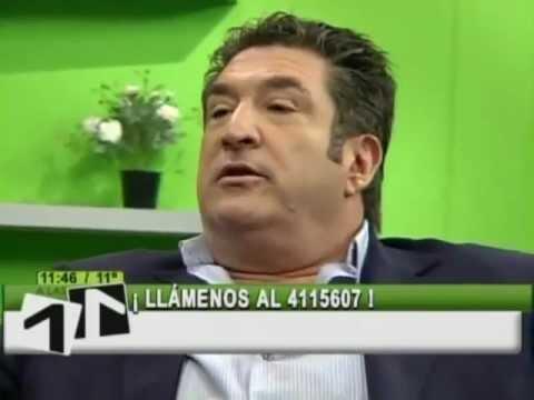 Gustavo Sanchez y una de sus últimas entrevistas en Telecanal 3/10/2012