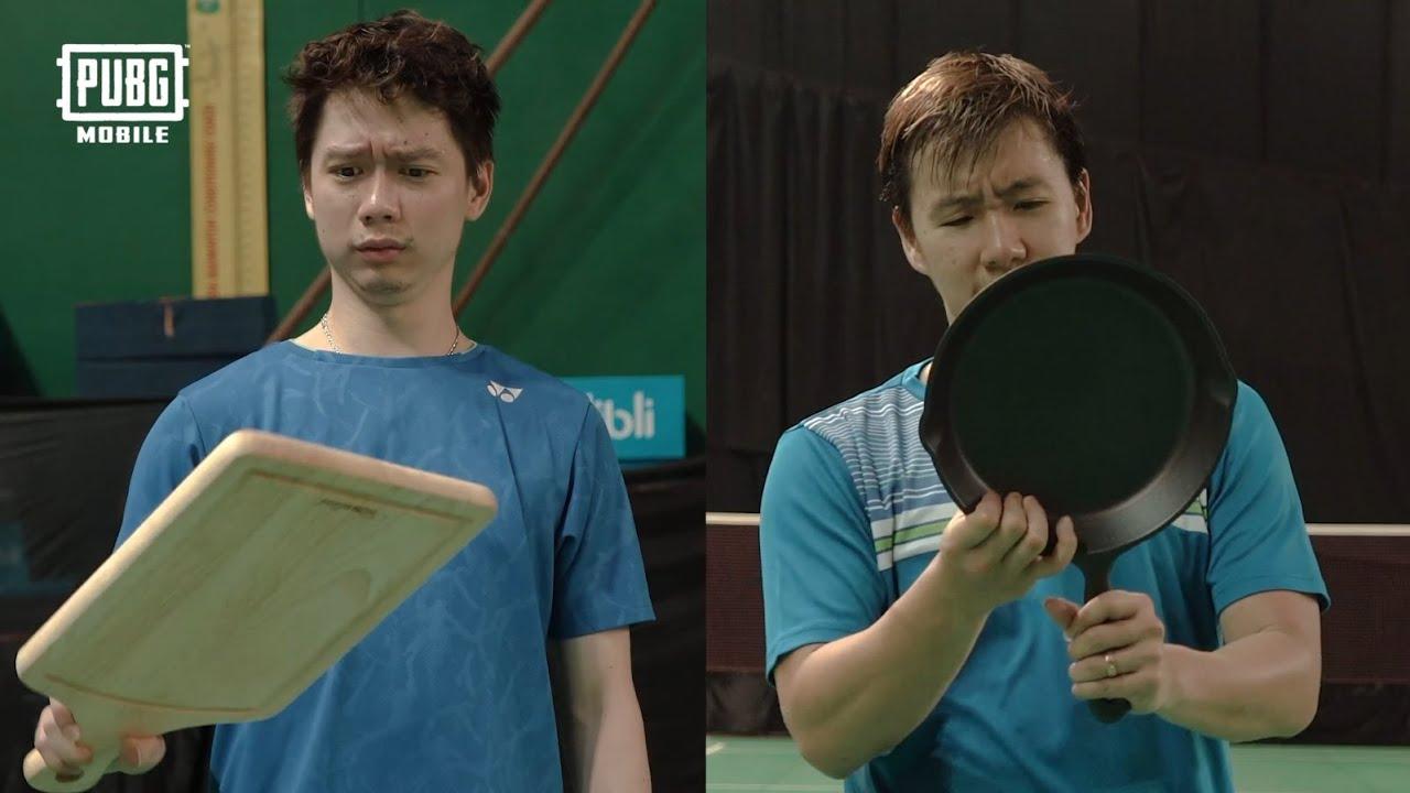 ⛰️Tantangan Baru Main Badminton dengan Panci ama Tatakan Sayur? 🏸