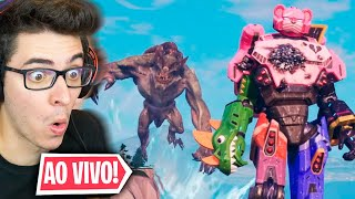 BATALHA FINAL! MONSTRO VS ROBÔ NO FORTNITE! EVENTO AO VIVO!