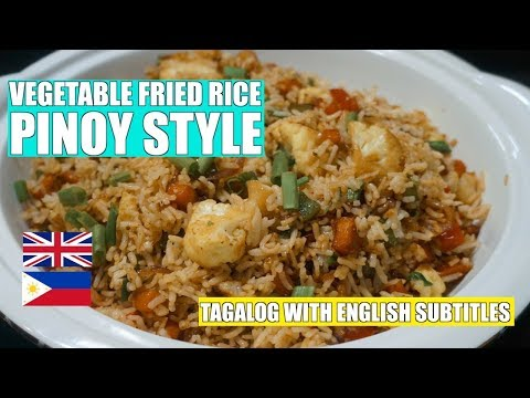 Vegetable Fried Rice - Pinoy Style Fried Rice - Filipino Rice - Easy veg Rice