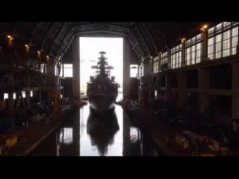 Time Lapse of HMS Monmouth being floated out of Devonport Dock