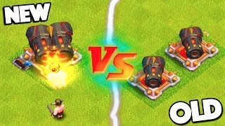 GEARED UP CANNON VS REGULAR CANNONS! CLASH OF CLANS NEW VS OLD WHICH IS BETTER?