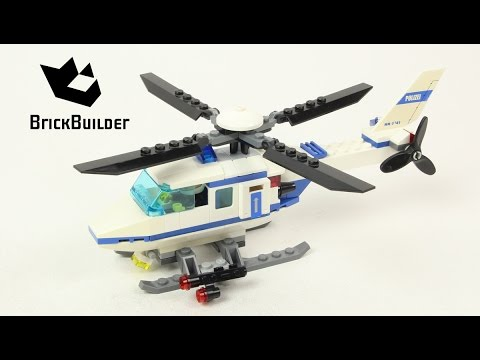 Lego City 7741 Police Helicopter Lego Speed Build Youtube