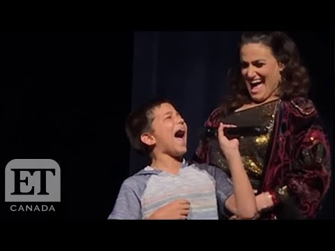 "Kid Shocks Idina Menzel with ""Let It Go"" rendition"