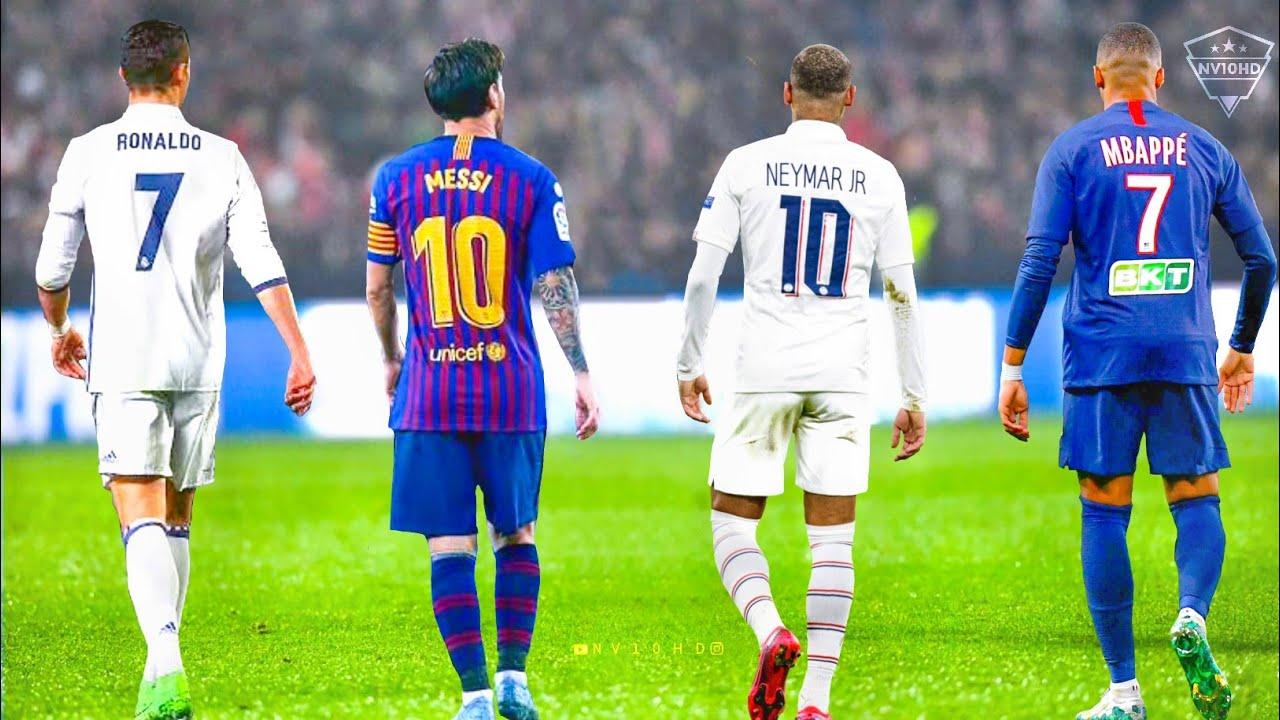 Neymar Vs Cristiano Ronaldo Vs Messi Vs Mbappe Top 10 Skills Hd Youtube