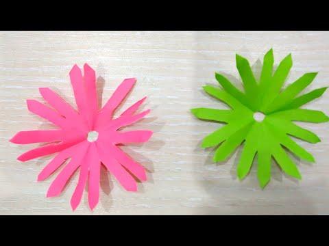 কাগজ দিয়ে সুন্দর ফুল/how to make 8petal paper Flowers, Diy  Craft