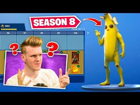 *NEW* SEASON 8 BATTLEPASS In Fortnite (100% UNLOCKED)