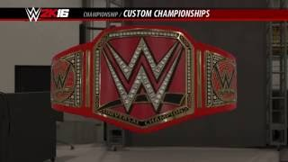 WWE 2K16: HOW TO MAKE THE WWE UNIVERSAL CHAMPIONSHIP!