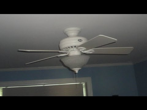 44 hunter stratford ii ceiling fan 1 of 2 youtube 44 hunter stratford ii ceiling fan 1 of 2 aloadofball Image collections