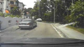 chasing a thief whom i caught after a 2 kms chase me bare foot and shorts only in singapore